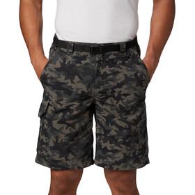 Columbia Silver Ridge Printed Cargo Pantalones Cortos Hombre, gris/negro